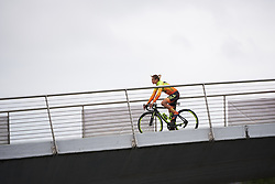 Roxane Knetemann (NED) crosses the footbridge to sign on at Ladies Tour of Norway 2018 Stage 2, a 127.7 km road race from Fredrikstad to Sarpsborg, Norway on August 18, 2018. Photo by Sean Robinson/velofocus.com