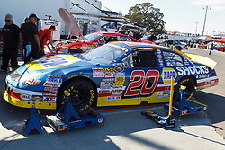ROSEVILLE, CA - OCTOBER 13: Eric Holmes, driver of the #20 NAPA Auto Parts Toyota sits in his car in the garage during practice for the NASCAR K&N Pro Series West Toyota/NAPA 150 at the All American Speedway on October 13, 2012 in Roseville, California. (Photo by Jason O. Watson/Getty Images for NASCAR) *** Local Caption *** Eric Holmes