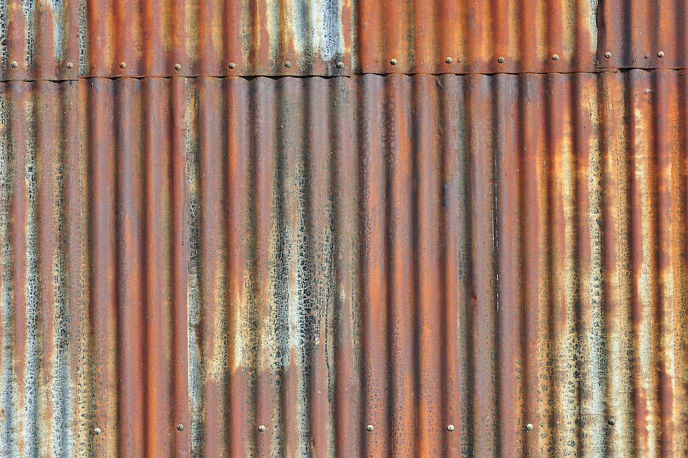 rusty metallic wall