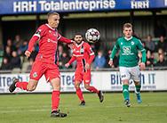 Lucas Haren (FC Helsingør) afslutter under kampen i 2. Division mellem Boldklubben Avarta og FC Helsingør den 10. november 2019 i Espelunden (Foto: Claus Birch).