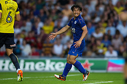 Shinji Okazaki of Leicester City signals his team mates he was open during the match - Mandatory byline: Jason Brown/JMP - 19/07/2016 - FOOTBALL - Oxford, Kassam Stadium - Oxford United v Leicester City - Pre Season Friendly