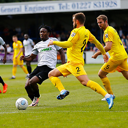 SEPTEMBER 1y6:  Dover Athletic against Chester FC in Conference Premier at Crabble Stadium in Dover, England. Doveer ran out emphatic winners 4 goal to nothing. Dover's forward Kadell Daniel makes another surge forward. (Photo by Matt Bristow/mattbristow.net)