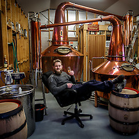 Master distiller Robert Polmear samples a pour of Overeem whisky at Old Hobart Distillery in Hobart, Tasmania, August 25, 2015. Gary He/DRAMBOX MEDIA LIBRARY