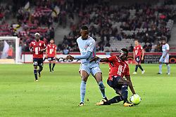 September 22, 2017 - Lille, France - 15 Edgar IE (lil) - 15 Adama DIAKHABY  (Credit Image: © Panoramic via ZUMA Press)