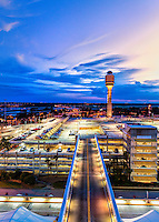 Sunset at Orlando International Airport in Orlando, FL.