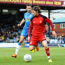 TELFORD COPYRIGHT MIKE SHERIDAN 16/2/2019 - James McQuilkin of AFC Telford during the Vanarama Conference North fixture between Stockport County and AFC Telford United at Edgeley Park