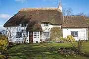 Pretty small detached country cottage, Chervil, Wiltshire, England, UK