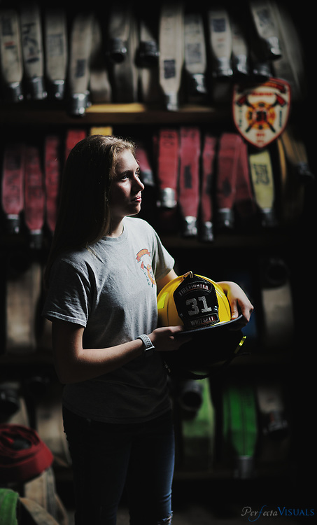 Caitlyn Smith is a senior at the STEM Early College at N.C.A&amp;T. She has set her sights on pursuing a mechanical engineering degree at A&amp;T or a material science and engineering degree at N.C. State. She is a Junior volunteer firefighter with the Whitsett Fire Department and the keeper for the Eastern Guilford soccer team.<br /> <br /> Photographed, Tuesday, May 15, 2018, in Greensboro, N.C. JERRY WOLFORD and SCOTT MUTHERSBAUGH / Perfecta Visuals