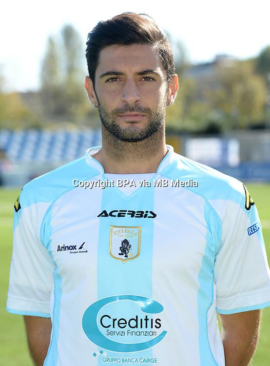 Italian League Serie B_2015-2016 / <br /> ( Virtus Entella Chiavari ) - <br /> Simone Sini