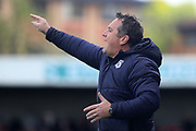 Tranmere Rovers manager Micky Mellon during the EFL Sky Bet League 2 match between Crawley Town and Tranmere Rovers at The People's Pension Stadium, Crawley, England on 4 May 2019.