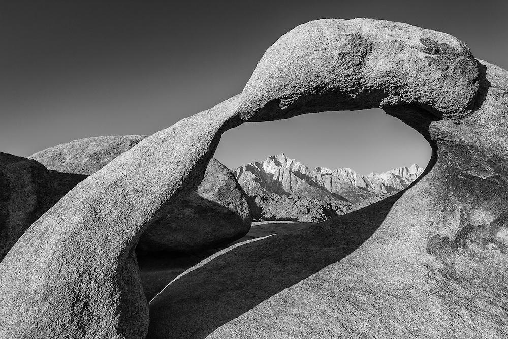 whitney black white. Mobius Arch And Mt Whitney - Alabama Hills CA Black \u0026 White H