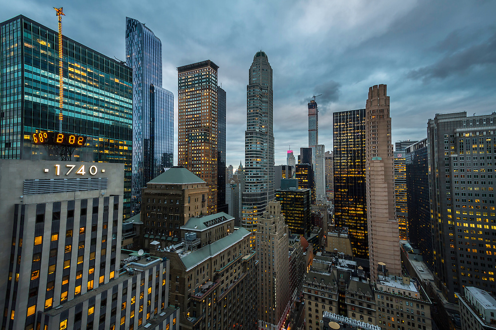 A small part of the Manhattan skyline in downtown New York City.