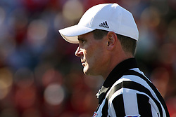 15 October 2011: Referee Kerry Ripley during an NCAA football game between the University of South Dakota Coyotes and the Illinois State Redbirds (ISU) at Hancock Stadium in Normal Illinois.