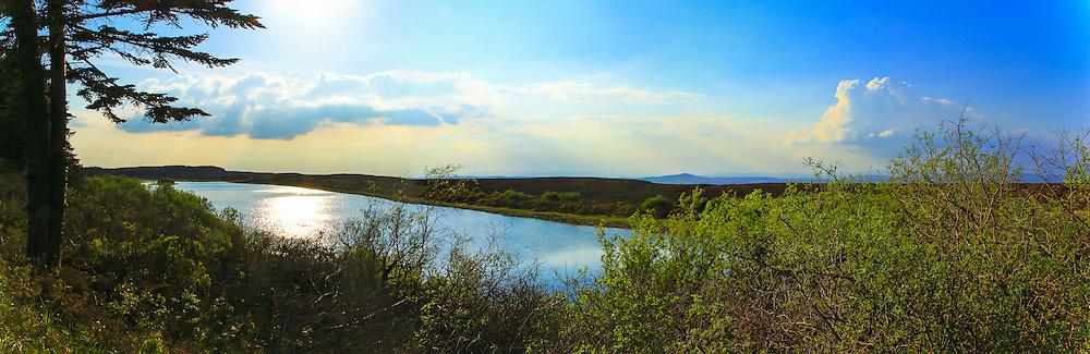 View overlooking Glencreawan Lough in Lough Navar Forest Park
