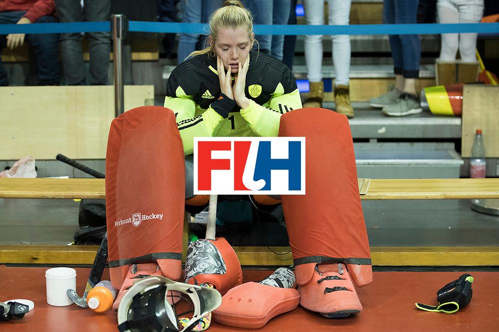 Hockey, Seizoen 2017-2018, 11-02-2018, Berlijn,  Max-Schmelling Halle, WK Zaalhockey 2018 WOMEN, Finale Nederland - Duitsland 1-2, HEERBAART Alexandra (GK) (NED). Worldsportpics copyright Willem Vernes