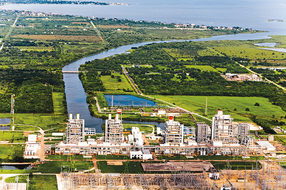 P.H. Robinson is a small natural-gas power plant in South Houston. It is an example of a peaker plant, whose generators are turned on during peak usage times. Per unit of electricity generated, natural gas power plants release half the amount of carbon as coal power plants.