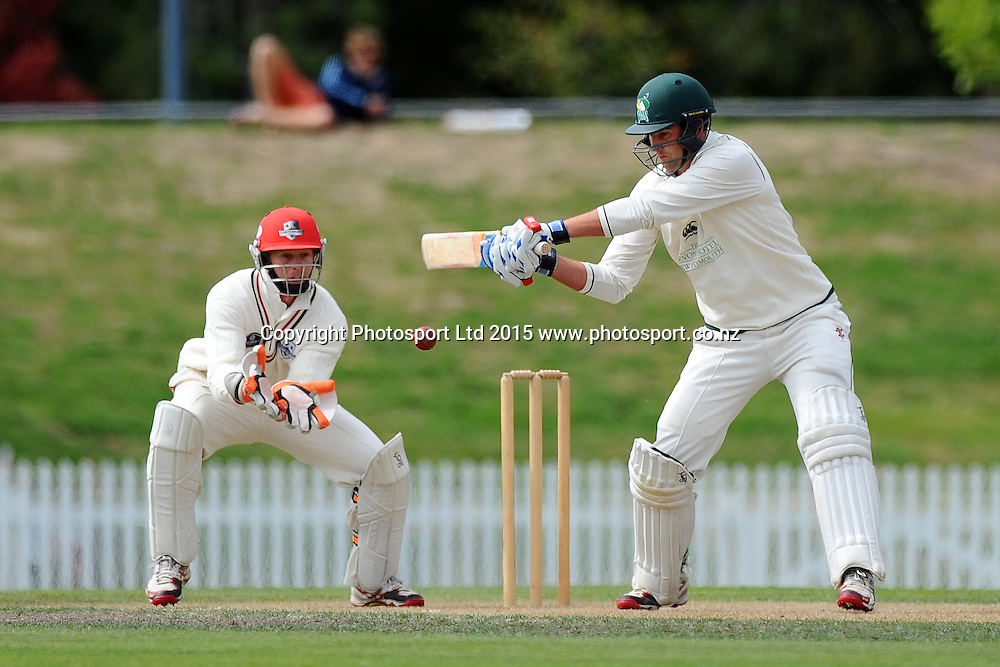 Central player Tom Bruce during their Plunket Shield match Central Stags v Canterbury at Saxton Oval, Nelson, New Zealand. Friday 20 March 2015. Copyright Photo: Chris Symes / www.photosport.co.nz