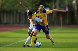 Joao Gabriel Da Silva and Kristjan Polovanec at 33rd Round of PrvaLiga Telekom Slovenije 2008/2009 league match between NK Luka Koper and NK Labod Drava Ptuj, on May 9, 2009, in SRC Bonifika, Koper, Slovenia. Drava won 2:1. (Photo by Vid Ponikvar / Sportida)