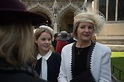 Lady Margarita Armstrong-Jones, The Countess of Snowdon; Service of thanksgiving for  Lord Snowdon, St. Margaret's Westminster. London. 7 April 2017JASPER CONRAN,