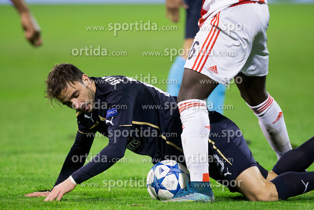 Gordon Schildenfeld #23 of GNK Dinamo Zagreb during football match between GNK Dinamo Zagreb and Olympiakos in Group F of Group Stage of UEFA Champions League 2015/16, on October 20, 2015 in Stadium Maksimir, Zagreb, Croatia. Photo by Urban Urbanc / Sportida