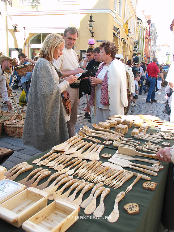 Wooden Craft in Tallinn Fair, Estonia