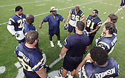 SAN DIEGO - JUNE 10:  General view of a San Diego Chargers defensive coach talking to players during minicamp practice at the San Diego Chargers Park practice field on June 10, 2006 in San Diego, CA. ©Paul Anthony Spinelli