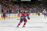 KELOWNA, CANADA - NOVEMBER 21: Michael Farren #16 of the Kelowna Rockets skates against the Regina Pats  on November 21, 2018 at Prospera Place in Kelowna, British Columbia, Canada.  (Photo by Marissa Baecker/Shoot the Breeze)