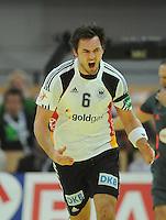 Handball EM Herren 2010 Hauptrunde Deutschland - Frankreich 24.01.2010 Michael Mueller (GER) jubelt