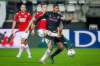 ALKMAAR - 19-12-2015, AZ - FC Utrecht, AFAS Stadion, 2-2, AZ speler Jeffrey Gouweleeuw, FC Utrecht speler Sebastien Haller