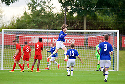 KIRKBY, ENGLAND - Saturday, September 24, 2016: Everton's Antony Evans celebrates scoring the second goal against Liverpool to make the score 2-1 during the Under-18 FA Premier League match at the Kirkby Academy. (Pic by David Rawcliffe/Propaganda)