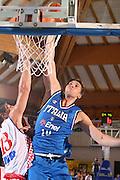 BORMIO 01 AGOSTO 2007<br /> BASKET NAZIONALE ITALIANA<br /> ITALIA-CROAZIA<br /> NELLA FOTO: BARGNANI<br /> FOTO CIAMILLO-CASTORIA