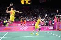 Zhang.N and Zhao.YL, China, Mixed Doubles, First Round Olympic Badminton London Wembley 2012