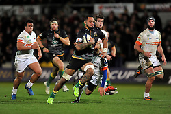 Samu Manoa of Northampton Saints goes on the attack - Photo mandatory by-line: Patrick Khachfe/JMP - Mobile: 07966 386802 13/12/2014 - SPORT - RUGBY UNION - Northampton - Franklin's Gardens - Northampton Saints v Treviso - European Rugby Champions Cup