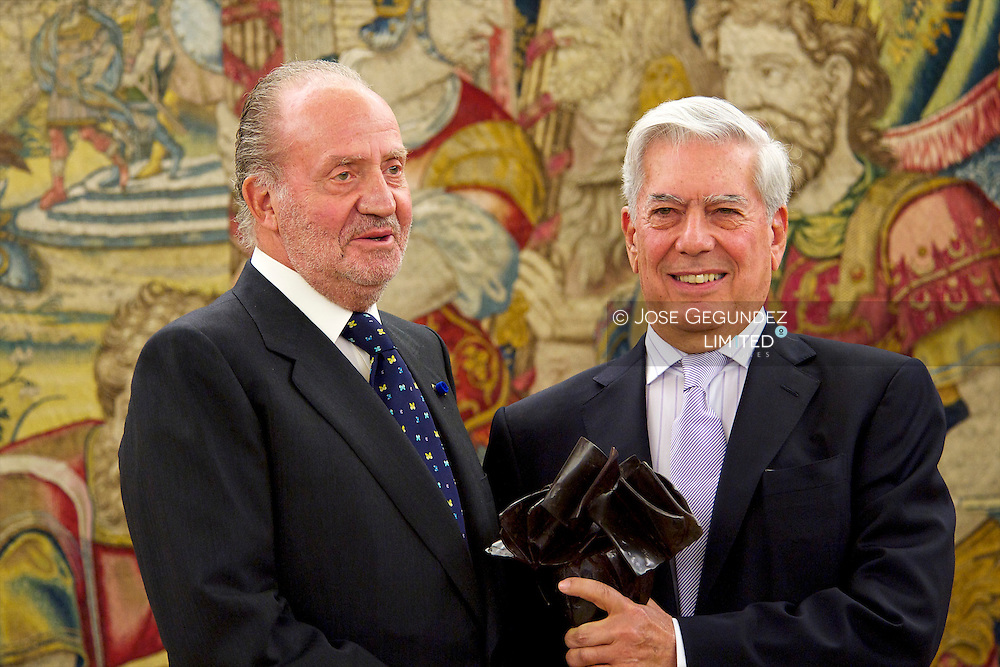 Spanish King  Juan Carlos and Spanish Queen Sofia attended the Delivery of the 2nd edition of the International Prize Don Quixote de la Mancha to he President of the Republic of Philippines, Mrs. Gloria Macapagal-Arroyo, and writer D. Mario Vargas Llosa