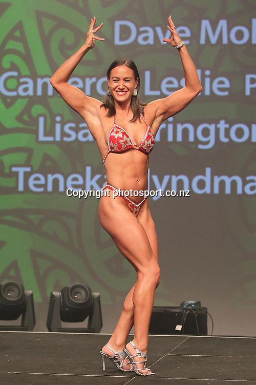 301113 2013  Individual Maori world champion awarded to Teneka Hyndman for pro figure body building at the Trillian Trust Maori Sports Awards at Vodafone Events Centre, Manukau. Photo: Fiona Goodall/photosport.co.nz
