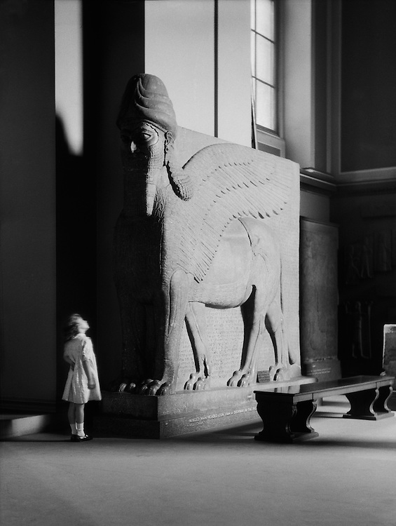 Child Looking at Winged Figure, British Museum, London, 1931