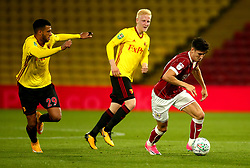 Callum O'Dowda of Bristol City goes past Etienne Capoue of Watford - Mandatory by-line: Robbie Stephenson/JMP - 22/08/2017 - FOOTBALL - Vicarage Road - Watford, England - Watford v Bristol City - Carabao Cup