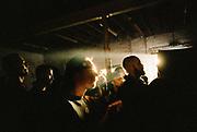 Ravers at DJ Gordie's 71st birthday party, Hackney Wick, London, 2017