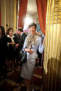 AMY FINE COLLINS;  , Legion d'honneur awards. Elysee Palace, Presidence. Rue du Faubourg. 50 Rue de la Bienfaisance. Paris. 07 April 2010