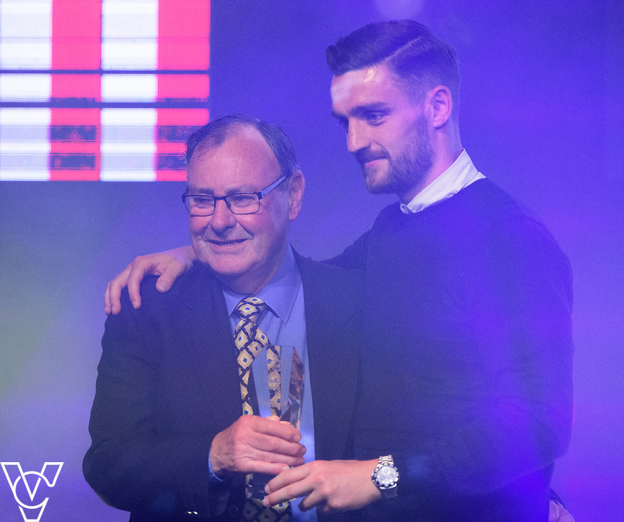 Dick Tacey presents Luke Waterfall with the Players Player Award<br /> <br /> Lincoln City Football Club's 2016/17 End of Season Awards night - Champions Seasons Awards Dinner - held at the Lincolnshire Showground.<br /> <br /> Picture: Andrew Vaughan for Lincoln City Football Club<br /> Date: May 20, 2017 Champions Seasons Awards Dinner: