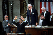 A 24 MG IMAGE OF:<br /> Nelson Mandela speaking before a Joint session of Congress 6/1/90<br /> <br /> Photography by Dennis Brack  BS 12