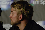 "MANCHESTER, ENGLAND, NOVEMBER 26, 2013: Alexander Gustafsson is pictured at the post-fight press conference for ""UFC Fight Night 30: Machida vs. Munoz"" inside Phones4U Arena in Manchester, England (© Martin McNeil)"