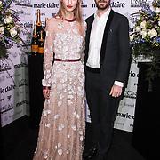 NLD/Amsterdam/20150119 - De Marie Claire Prix de la Mode awards, Jan Taminiau en Maartje Verhoef