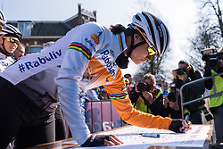 She's back. Marianne Vos signs in for Drentse 8 - Drentse 8, a 140km road race starting and finishing in Dwingeloo, on March 13, 2016 in Drenthe, Netherlands.