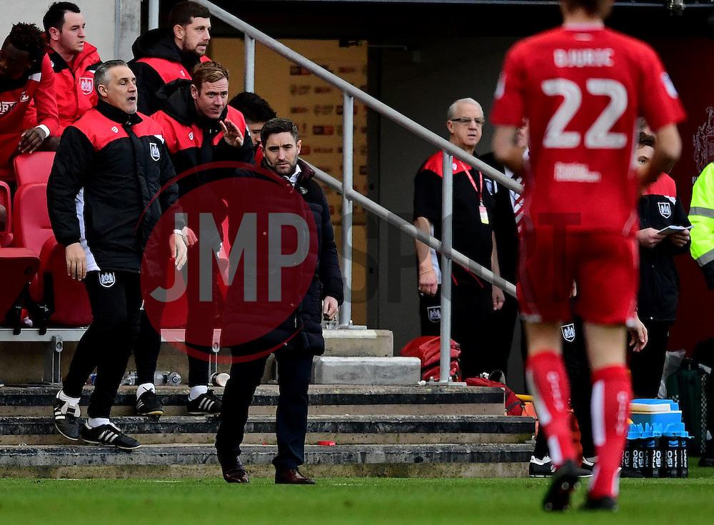 Bristol City head coach Lee Johnson   - Mandatory by-line: Joe Meredith/JMP - 04/02/2017 - FOOTBALL - Ashton Gate - Bristol, England - Bristol City v Rotherham United - Sky Bet Championship