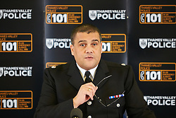 © Licensed to London News Pictures.  06/12/2012. MILTON KEYNES, UK. Area Commander Detective Superintendent Barry Halliday (pictured) speaks to the media regarding Operation Rouse. A total of 22 warrants were executed under the Misuse of Drugs Act in the Milton Keynes area this morning, with a further four carried out in the Metropolitan Police area and one in Northampton. 240 police officers were involved and 21 people arrested. A quantity of drugs, cash and weapons were seized. Photo credit :  Cliff Hide/LNP