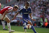 Stoke v Chelsea Premier League 27/09/2008 Chelsea's Jose Bosingwa scores. Photo Patrick McCann/Fotosports International