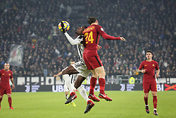 December 23, 2017 - Turin, Piedmont, Italy - Blaise Matudi (Juventus FC) and Alessandro Florenzi (A.S. Roma)  compete for the ball during the Series A football match between Juventus FC and AS Roma at Allianz Stadium on 23 December, 2017 in Turin, Italy. .Juventus won 1-0 over Roma. (Credit Image: © Massimiliano Ferraro/NurPhoto via ZUMA Press)