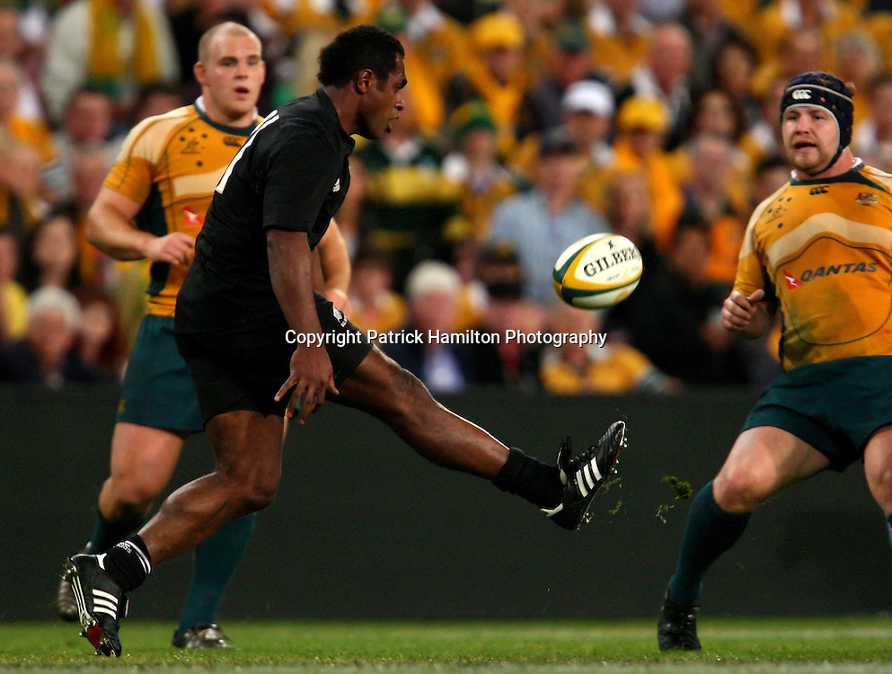 Sitiveni Sivivatu.All Blacks v Australia Tri Nations Rugby Union Test Match. Suncorp Stadium ,Brisbane. Australia,Saturday 13 September 2008 .