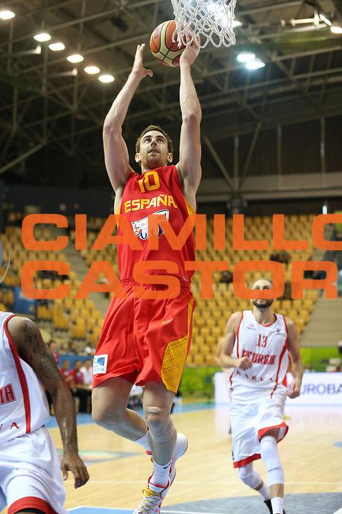 DESCRIZIONE : Celje Slovenia Eurobasket Men 2013 Preliminary Round Georgia Spagna Georgia Spain<br /> GIOCATORE : Victor Claver<br /> CATEGORIA : tiro shot<br /> SQUADRA : Spagna Spain<br /> EVENTO : Eurobasket Men 2013<br /> GARA : Georgia Spagna Georgia Spain<br /> DATA : 09/09/2013 <br /> SPORT : Pallacanestro <br /> AUTORE : Agenzia Ciamillo-Castoria/ElioCastoria<br /> Galleria : Eurobasket Men 2013<br /> Fotonotizia : Celje Slovenia Eurobasket Men 2013 Preliminary Round Georgia Spagna Georgia Spain<br /> Predefinita :